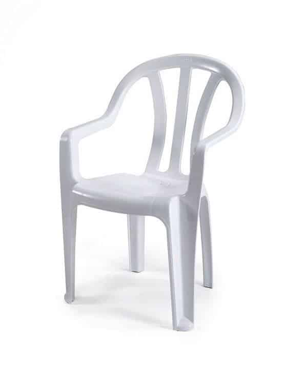 כיסא פלסטיק עם ידיות
